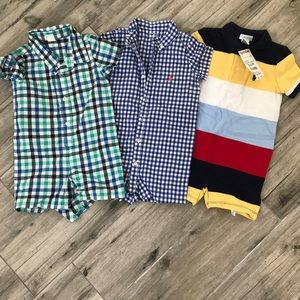 Ralph Lauren boys onesies—1 with tags, 2 like new